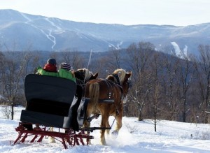 Sleigh Ride in the Mad River Valley Vermont