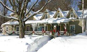 West Hill House near Sugarbush in deep snow
