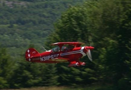 Red stunt plane