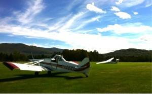 Tow plane and Sailplane at Sugarbush Soaring