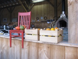 Red Chair at the Hartshorn Farm Stand in Waitsfield VT
