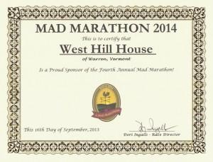 Mad Marathon 2014 Sponsorship