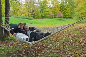 Relaxing in the Hammock at West Hill House