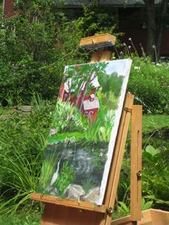 Our pond on canvas