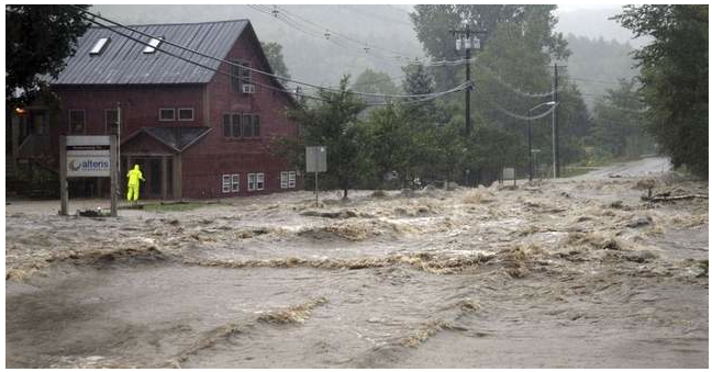 Route 100 near Jameison Insurance, David Dion Realty and Alteris- Waitsfield VT