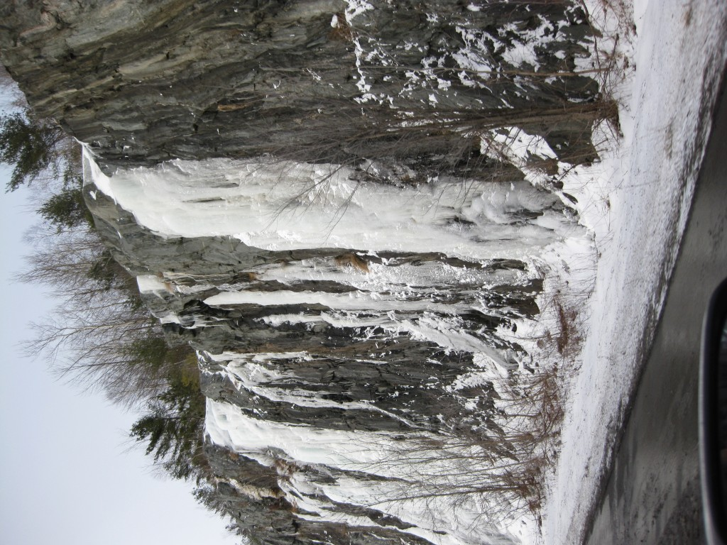 Icy Falls on Rt. 100