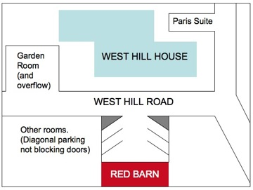 Parking Diagram for West Hill House Bed and Breakfast