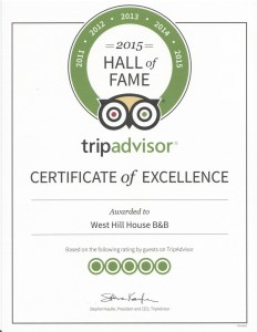 Trip Advisor 2015 Hall of Fame