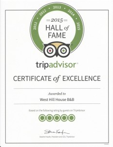 Trip Advisor 2015 Hall of Fame