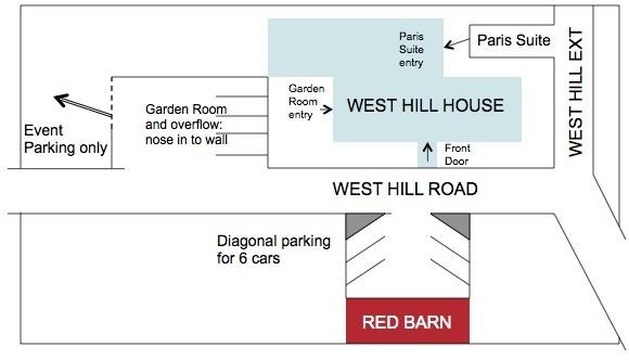 West HIll House B&B Parking diagram