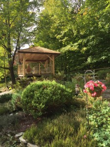 West Hill House B&B custom built Gazebo with Vermont Hemlock