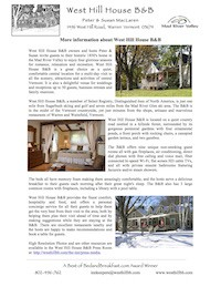 West_Hill_House_B&B_Fact_Sheet