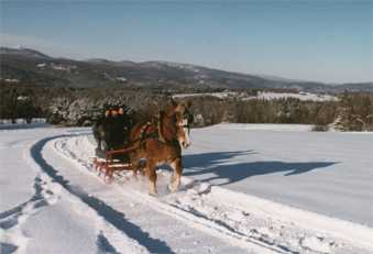 Sleigh rides in the Mad River Valley