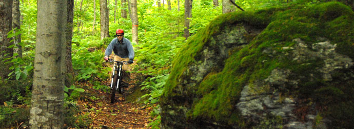 Mountain biking at Sugarbush, VT