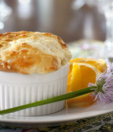 Glasgow Soufflé for Breakfast at the West Hill House Bed and Breakfast