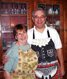 Innkeepers Peter and Susan at West Hill House Bed and Breakfast