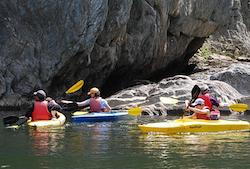 Guest having fun Kayaking