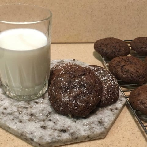 Milk and chocolate mint cookies