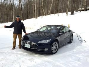 Matt's Tesla Model S 85D getting charged