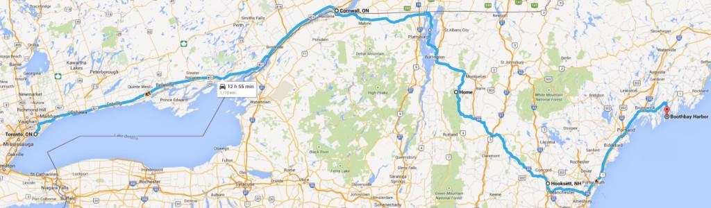 Toronto to Maine by Tesla