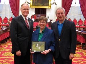 Governor Jim Douglas, Susan & Peter Green Hotel Award