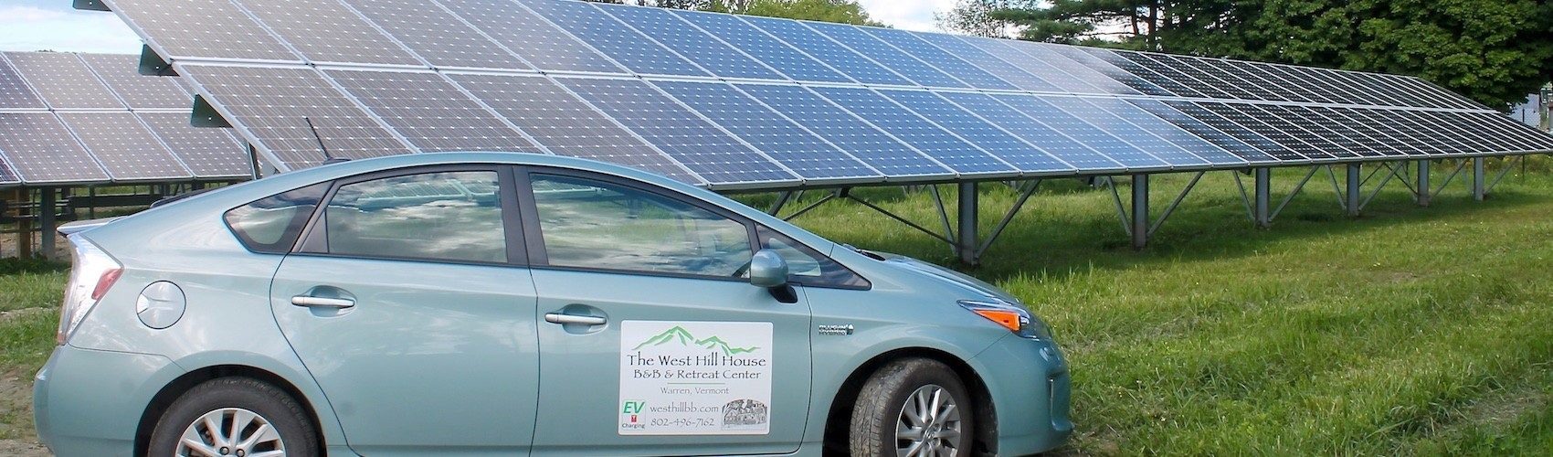West Hill House B&B Prius at Solar Array