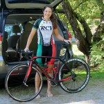 Joanna getting ready for Green Mountain Stage Race