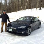 Tesla Model-S 85D from Toronto getting charged