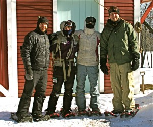 Ready for snowshoeing