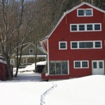 Snowshoe tracks to Handsome Red Barn