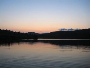 Blueberry Lake, Vermont scenery in Warren - photo by debra hall