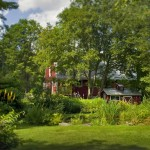 Gardens and the Handsome Red Barn
