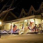 West Hill House B&B at night in winter - by Jeremy Montemagni