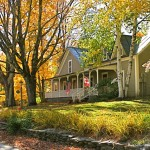 West Hill House B&B in fall