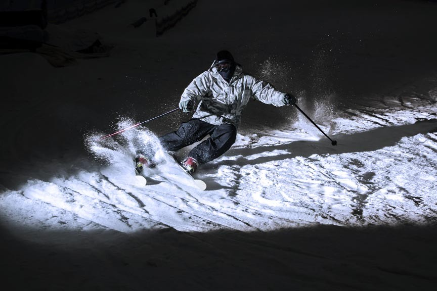 Moonlight skiing at Sugarbush