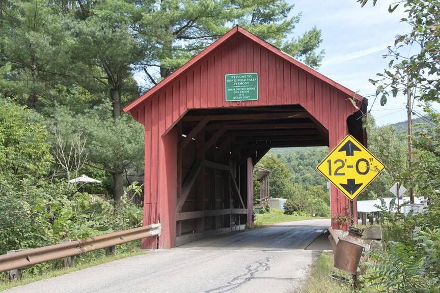 Covered Bridges around the Mad River Valley - Newell Bridge aka Lower Cox Brook Bridge