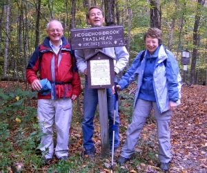 Hedgehog Brook Trailhead with Bruce