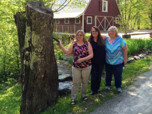 The Allen girls Cherylee, Jonni at Robin at West Hill House B&B at Sickle Tree, Vermont Civil War history