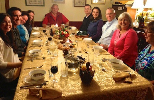 West Hill House B&B Thanksgiving dinner!