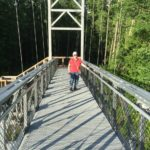 Walking on Long Trail Bridge