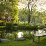 pond at WestHill House