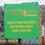 Same Sun Solar Society Sign