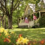 West Hill House B&B front porch to begin or end your day of Mad River Valley summer activities