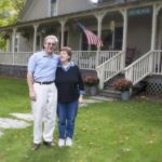 Vermont Innkeepers Peter & Susan MacLaren in front of West Hill House B&B