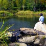 Peter at Pond