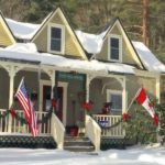 WestHill House in snow