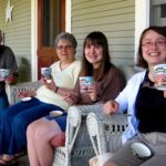 Ben & Jerry's icecream on the porch