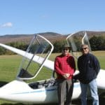Peter with his pilot at Sugarbush Soaring