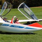 Susan ready for take off at Sugarbush Soaring
