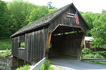Lincoln Gap covered bridge in the town of Warren, VT